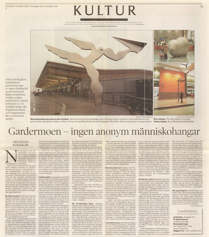 Gardermoen Article