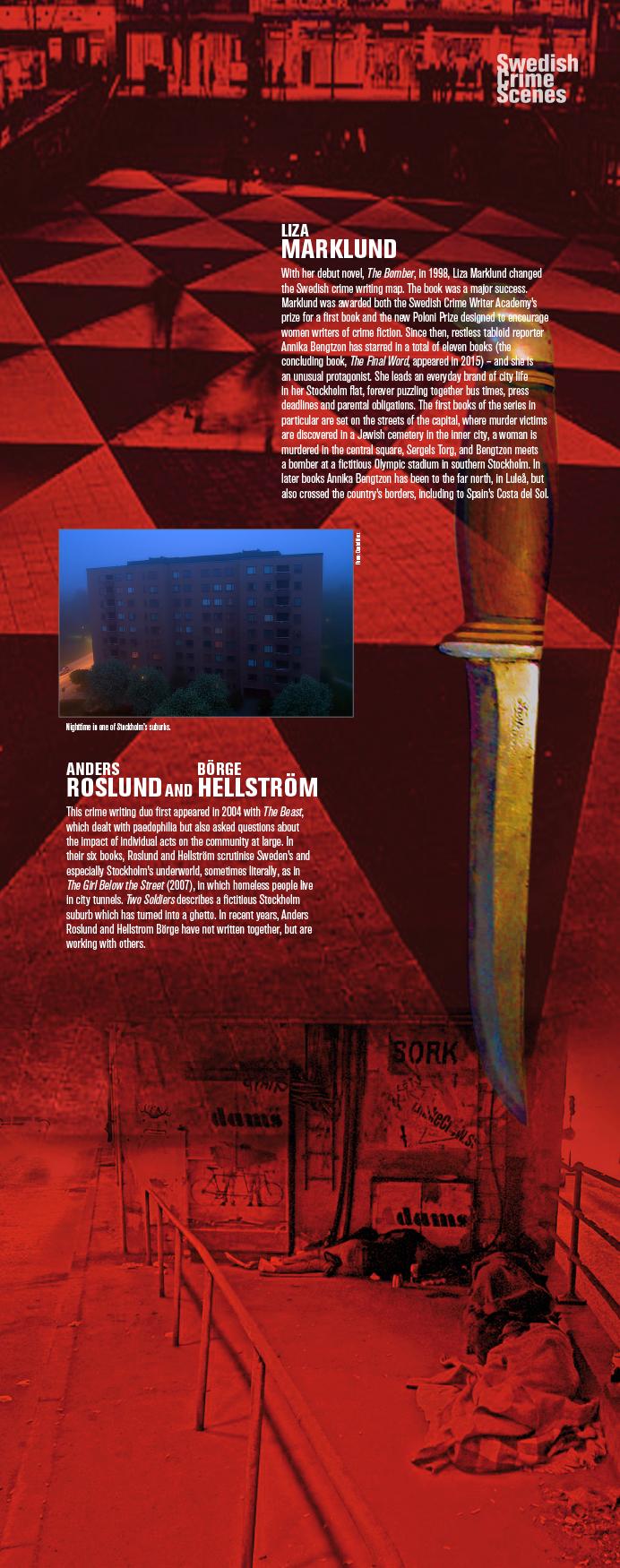 Swedish Crime Scenes Exhibition. Example.