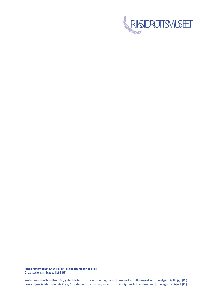 Grafisk profil Riksidrottsmuseet